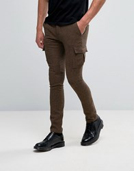 Heart And Dagger Trouser With Cargo Pockets Brown