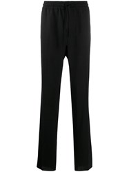 Versace Elasticated Waist Loose Fit Trousers Black