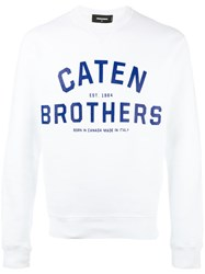Dsquared2 Caten Brothers Sweatshirt White