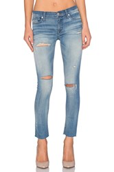 Hudson Jeans Shine Ankle Skinny Raw Hem Rescue Mission