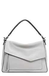 Botkier Cobble Hill Slouch Calfskin Leather Hobo Grey Silver Grey