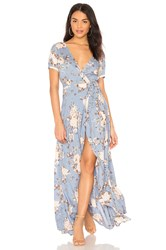 Auguste Abigail Wrap Maxi Dress Blue