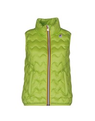 K Way Down Jackets Acid Green