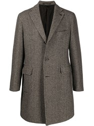 Tagliatore Single Breasted Embroidered Coat 60