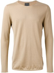 Laneus Loose Fit Sweatshirt Men Silk Cashmere 48 Nude Neutrals
