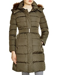 Add Down Fur Trim Hooded Down Coat
