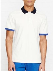 Aquascutum London Timbs Block Colour Pique Short Sleeve Polo Shirt White