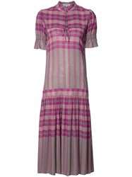Apiece Apart Plaid Dress Pink Purple