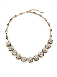 Azaara Vintage By Swarovski Crystal Silver And Copper Antique Necklace Antique Gold
