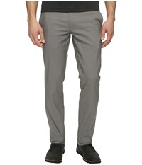Perry Ellis Slim Fit Stretch Twill Chino Pants Castlerock Men's Casual Pants Gray