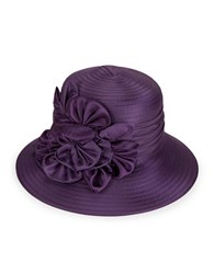 Giovannio Embellished Derby Hat Purple