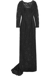 Mikael Aghal Corded Lace Gown Black