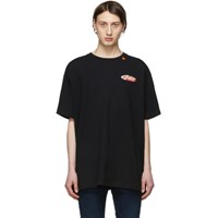 Off White Black And Red Oversized Split Logo T Shirt