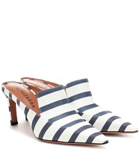 Altuzarra David Striped Canvas Mules Blue