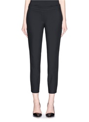 Theory 'Thaniel' Elastic Waist Cropped Pants Black