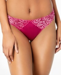 Inc International Concepts I.N.C. Smooth Lace Thong Festival Fuschia