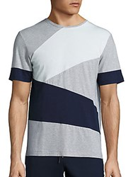 Madison Supply Geometric Colorblock Tee Heather Grey