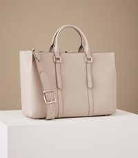 Reiss Picton Leather Tote In Powder