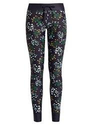 The Upside Ditsy Floral Print Performance Leggings Navy Print