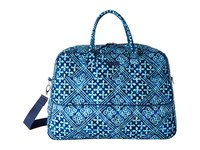 Vera Bradley Grand Traveler Cuban Tiles Handbags Blue