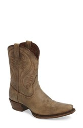 Ariat Women's Willow Western Boot Brown Bomber Leather