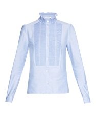 See By Chloe Embroidered Cotton Oxford Shirt