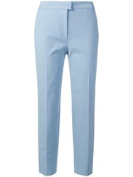 Piazza Sempione Cropped Tailored Trousers Blue