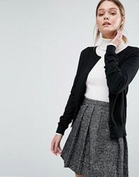 New Look Button Down Cardigan Black