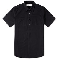 Our Legacy Short Sleeve Popover Shirt Coat Black