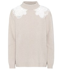 Chloe Wool And Cashmere Sweater Beige