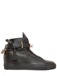Buscemi Alta Leather Wedge High Top Sneakers