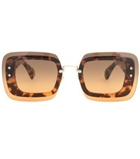 Miu Miu Square Sunglasses Brown