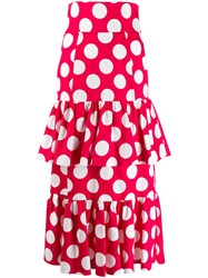 Sara Battaglia Layered Polka Dot Skirt