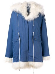 Calvin Klein 205W39nyc Fur Lined Coat Blue