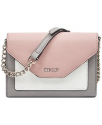 Nine West Aleksei Small Crossbody Mist Modern Pink Optic White