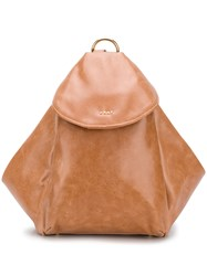 Dkny Trapeze Shaped Backpack Brown