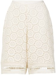 See By Chloe Crochet Shorts Cotton White
