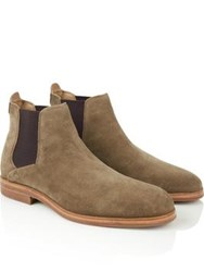 Hudson Tonti Suede Chelsea Boots Tobacco