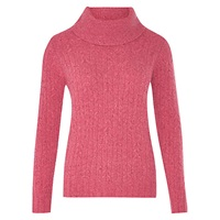 Viyella Cable Cowl Neck Jumper Rose