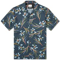 Paul Smith Floral Print Vacation Shirt Blue
