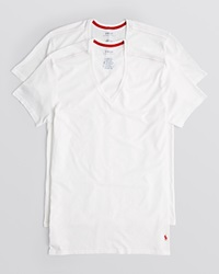 Ralph Lauren Supreme Comfort V Neck Tee Pack Of 2 White