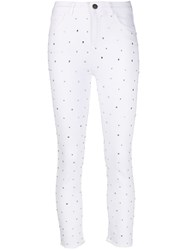 Twin Set High Rise Skinny Jeans White