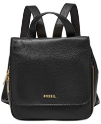 Fossil Preston Small Leather Backpack Black