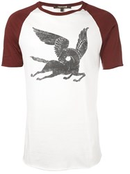 Roberto Cavalli 'Pegasus' T Shirt Nude And Neutrals