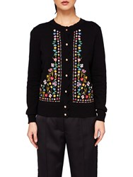 Ted Baker Hampton Court Embroidered Cardigan Black