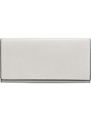 Valextra Leather Wallet Grey
