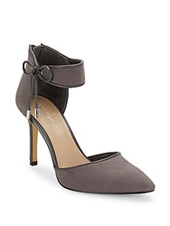 Saks Fifth Avenue Point Toe Stiletto Pumps Grey