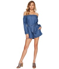 Free People Tangled In Willows One Piece Dark Denim Women's Jumpsuit And Rompers One Piece Navy
