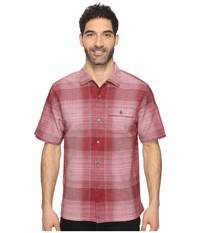 Tommy Bahama Orinoco Ombre Short Sleeve Woven Shirt Cherry Tomato Men's Short Sleeve Button Up Orange