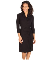 Karen Kane Cascade Wrap Dress Black Women's Dress